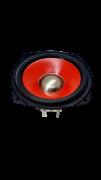 Alto Falante 4,6 Polegadas 6 Ohms 30 W Vermelho Eastech Rádio