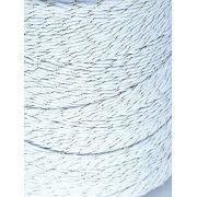 Barbante Fio 8 1kg Branco Dourado Crochê Artesanato Brilho