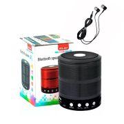 Kit 2 peças Caixa Caixinha Som Bluetooth + Fone de ouvido com microfone