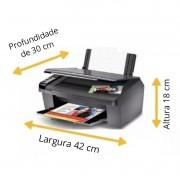 Capa Para Impressora Multifuncional Modelos Hp, Epson e Canon Na cor Preta em Corino impermeável