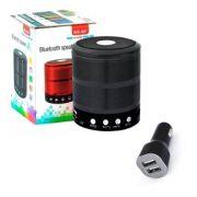 Kit 2 peças Caixa Caixinha Som Bluetooth + carregador de carro celular