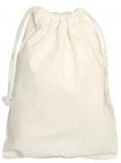 Saco, Saquinho ecológico e reutilizável de algodão cru medida 15x20cm com cordão cru