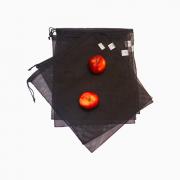 Saquinho reutilizável para guardar frutas, verduras, utensílios e brinquedos resistente cor PRETO FMU