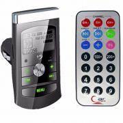 Transmissor carro Fm Mp3 Usb Pen Drive Cartão Micro SD