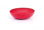 Travessa Saladeira redonda vermelha mogno de material plástico sustentável para casa e cozinha