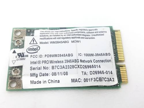 Placa Conector Wireless Notebook Intel Nova 000m-3945bg