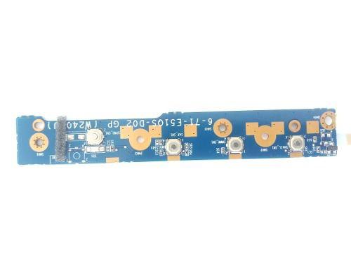Placa Botão Power A7520-w7425 + Cabo Flat 6-71-e51q5-do2