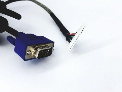 Cabo Para Monitor Vga Conector De 13 Vias Branco 1,7 mt