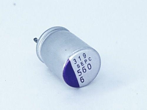 10 Peças Capacitor Eletrolítico Smd 560uf X 6v