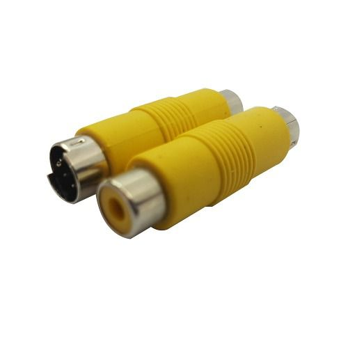 Adaptador 8 Pinos S Vídeo Rca 140-02138-0080f Novo Amarelo