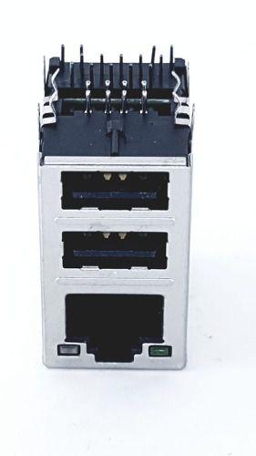 5 Peças Conector Rj 45 + 2 Usb Novo Rj45