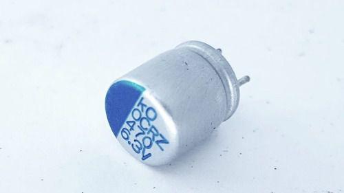 10 Peças Capacitor Eletrolítico Smd 470 X 6,3