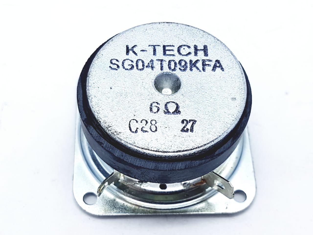 2 peças alto falante tweeter k-tech quadrado 4,5 cm preto  6 Ohms SG04T09KFA