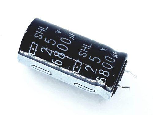 7 Peças Capacitor Eletrolítico 6800x25 18x35cm Snapin S4l