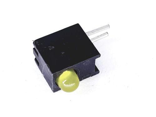 50 Peças De Led Com Soquete 3mm Amarela