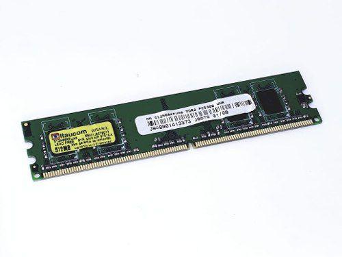 2 Memorias Ddr2 512gb Barramento 667 Pc5300 Itaucom