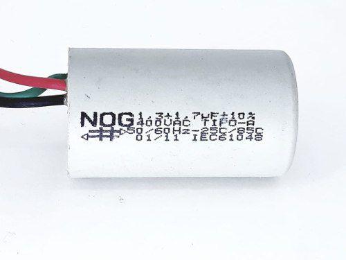 Capacitor Para Ventilador 1,3 + 1,7uf 400vac +- 10% Tipo A