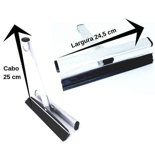 Rodo Alumínio Duplo Vidro E Varanda Limpa 2 Lados 24,5 Cm