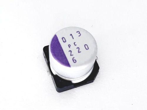 20 Peças De Capacitor Eletrônico Smd 220 Uf X 6.3 V