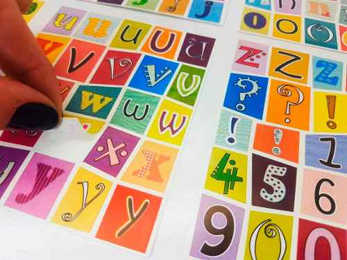 Adesivo Alfabeto Números Escolar Infantil Letras