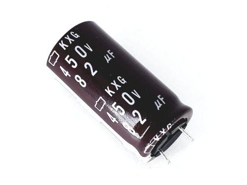 20 Peças De Capacitor Eletrolítico 82 Uf X 450 V Novo