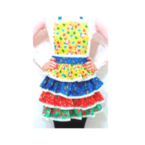 Vestido de Festa Junina moderno tamanho Infantil no tema Quadrilha
