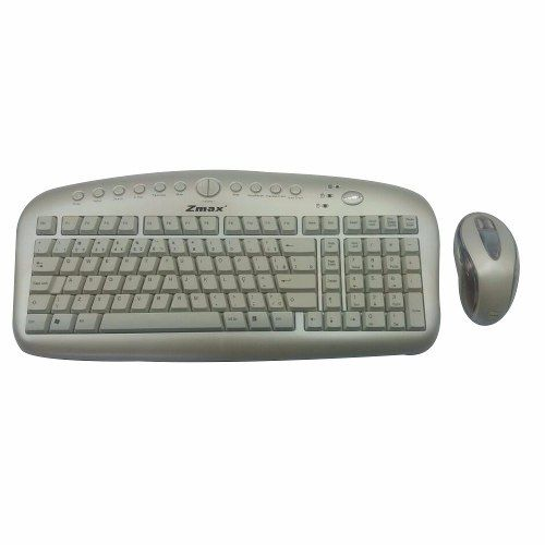 Teclado Antirsi + Mouse Óptico Scroll Branco Vcom Kbs-2726w PS2