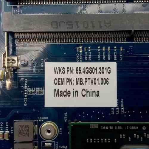 Placa Mãe Acer Aspire 1430t 1830t Mb.ptv01.006 Jv10-cs Mb