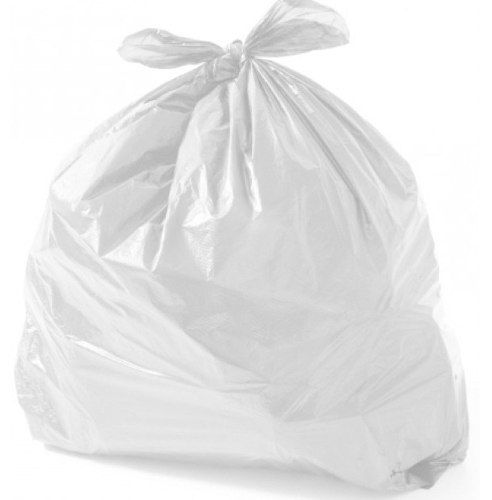 Saco de Lixo Plástico Branco 15 Litros com 100 unidades infectante Clinica