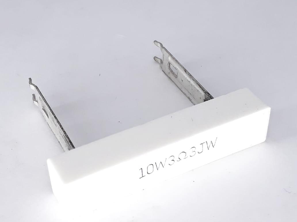 5 Peças De Resistores De Fio 10wts 3r3 Novo