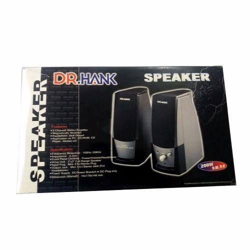 Caixa De Som Dr.hank 2 Canais 200 W Pc Desktop Preta 4 Ohms