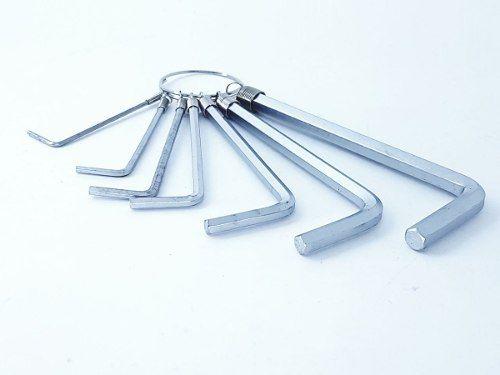 7 Peças Chave Alenn Acetinada Chaveiro Lee Tools