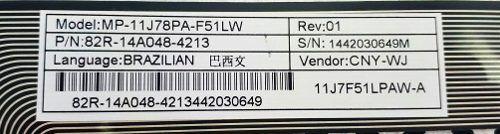 Teclado Notebook Sti 1402 Mp-11j78pa-f51lw 82r-14a048-4213