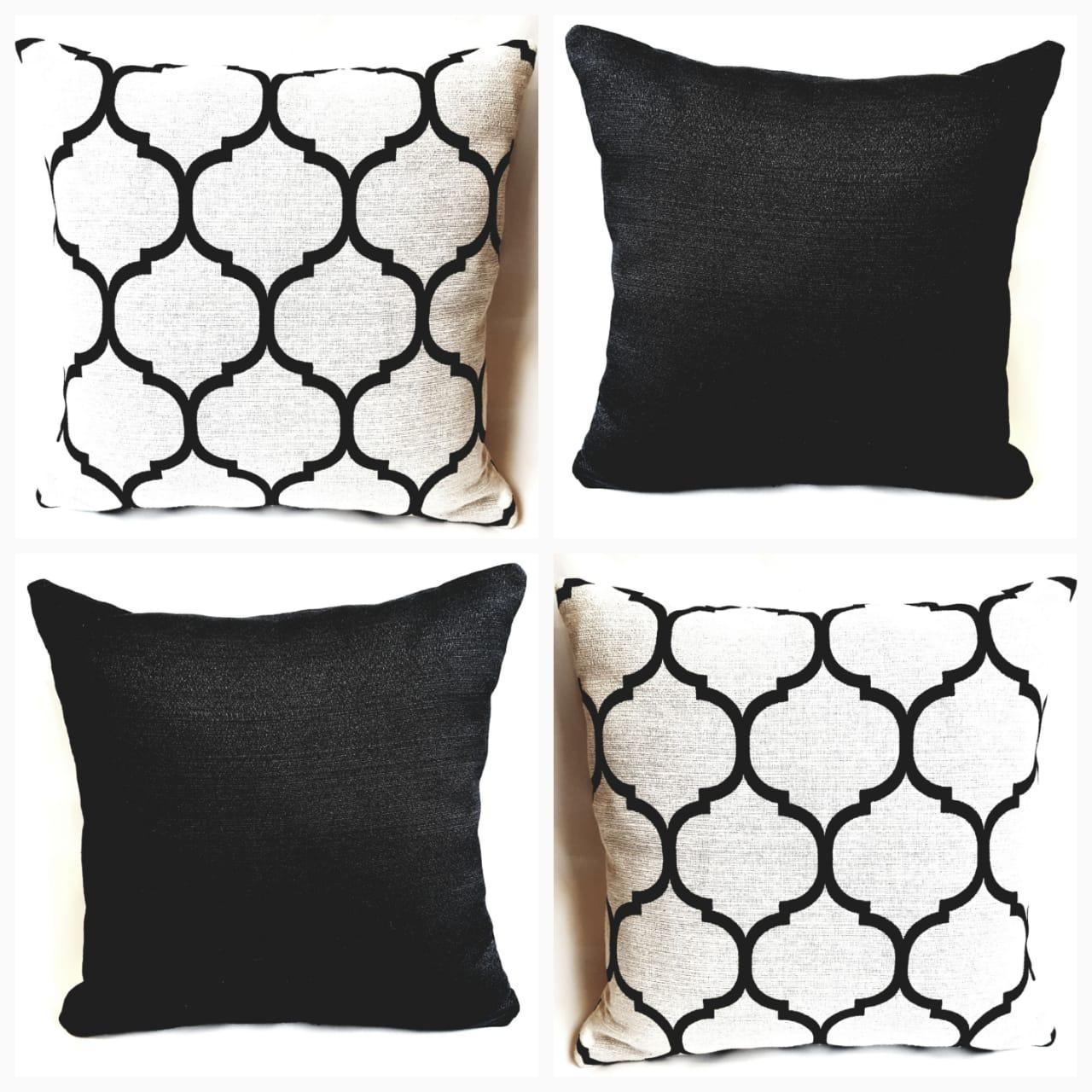 Almofada chevron losango estampada  sala sofá  4 capas 40X40 cm Rústico
