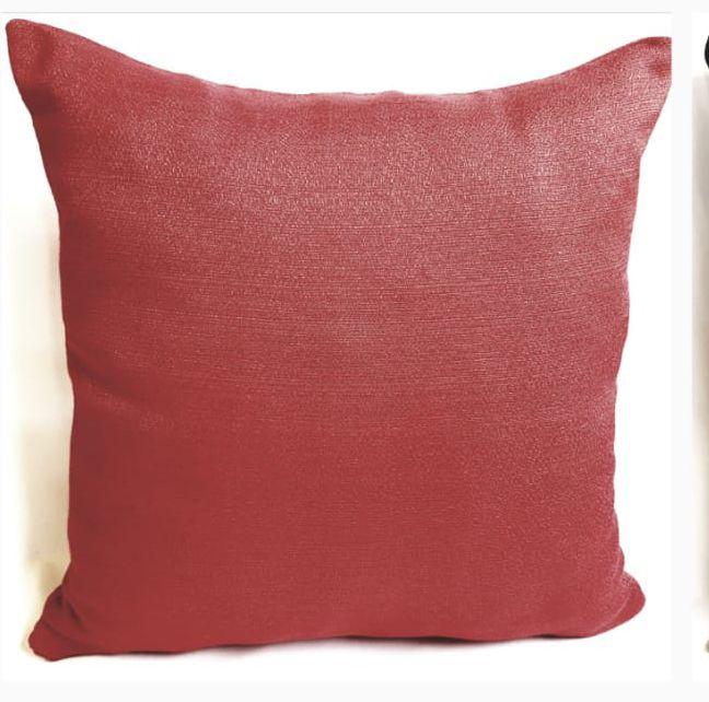 Kit Almofada  preta vermelha decorativa 4 capas 40x40 cm  Rústico