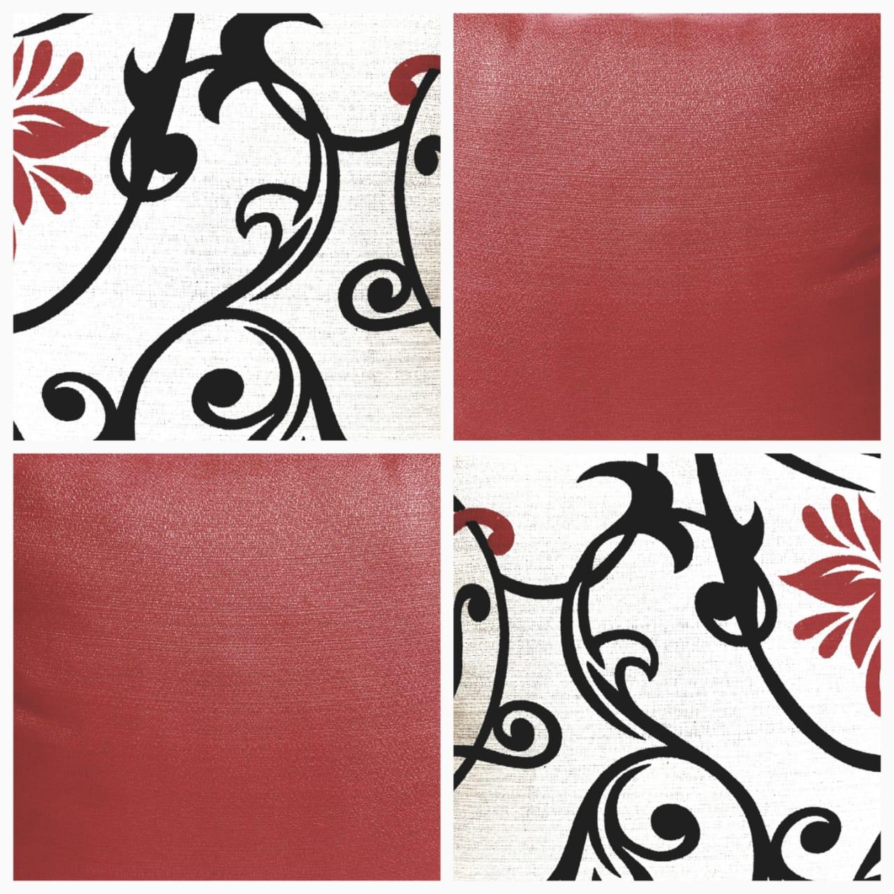 Almofada vermelha Estampada Sala 4 Capas 40x40 Cm decorativa moda