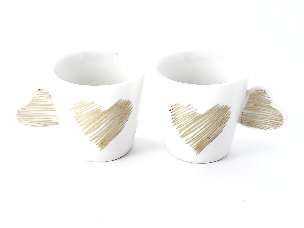 Bandeja para café da manhã com xícara coração Dia da Mulher Presente