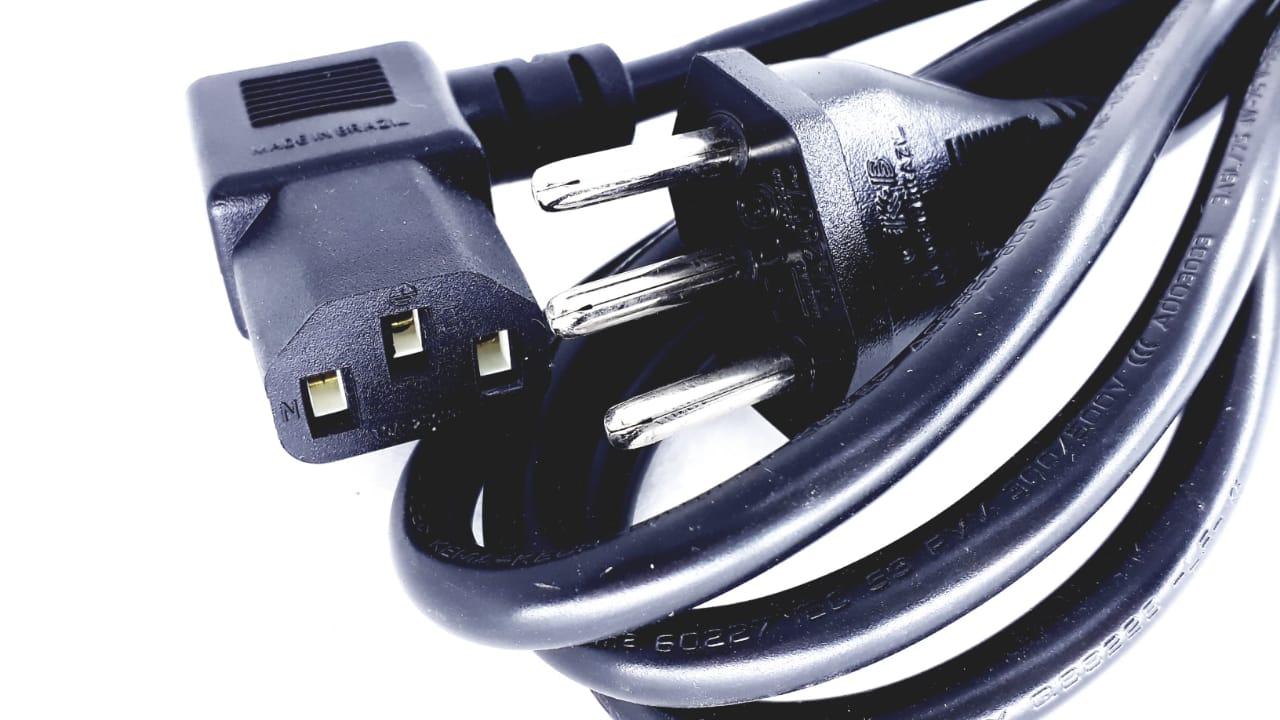 Cabo de força para eletro eletrônicos geral Tv de 1,80 mt  padrão novo 0,75mm 250V 10A  Licenciado pelo inmetro