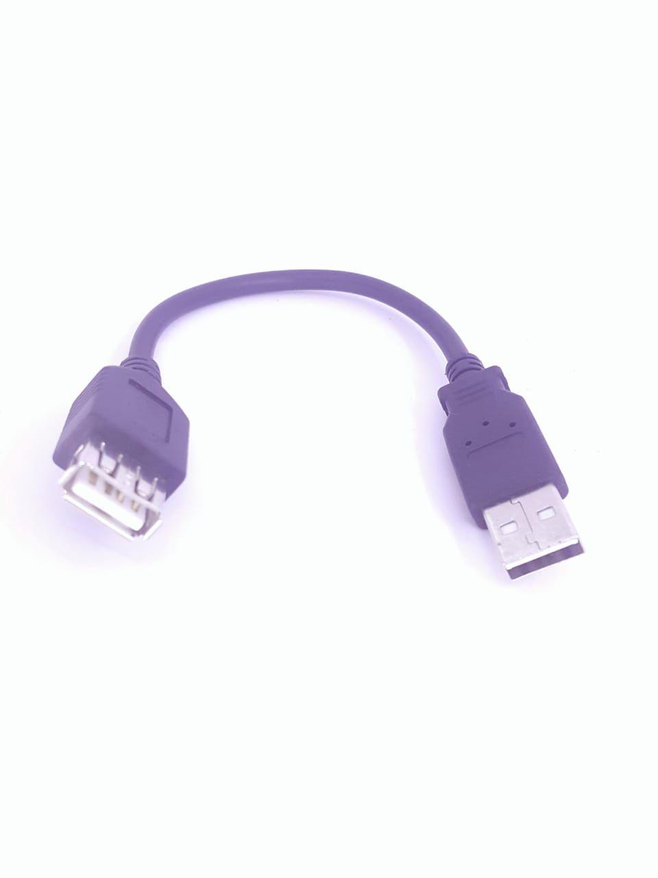 Cabo Extensor USB 2.0 mini Macho para fêmea Preto  20 cm
