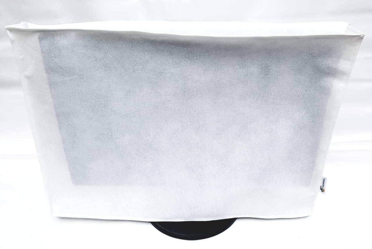 Capa para monitor 22,23 e 24 polegadas na cor Branca em TNT