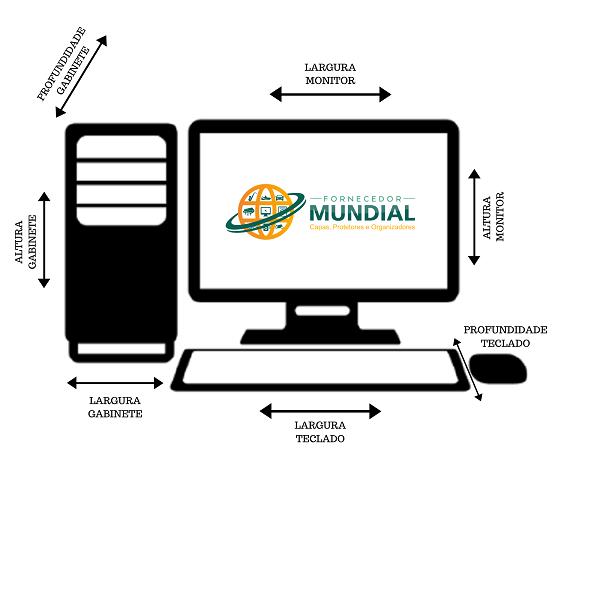 Capa Para Gabinete CPU modelo Servidor  Na cor Preta em Corino Impermeável