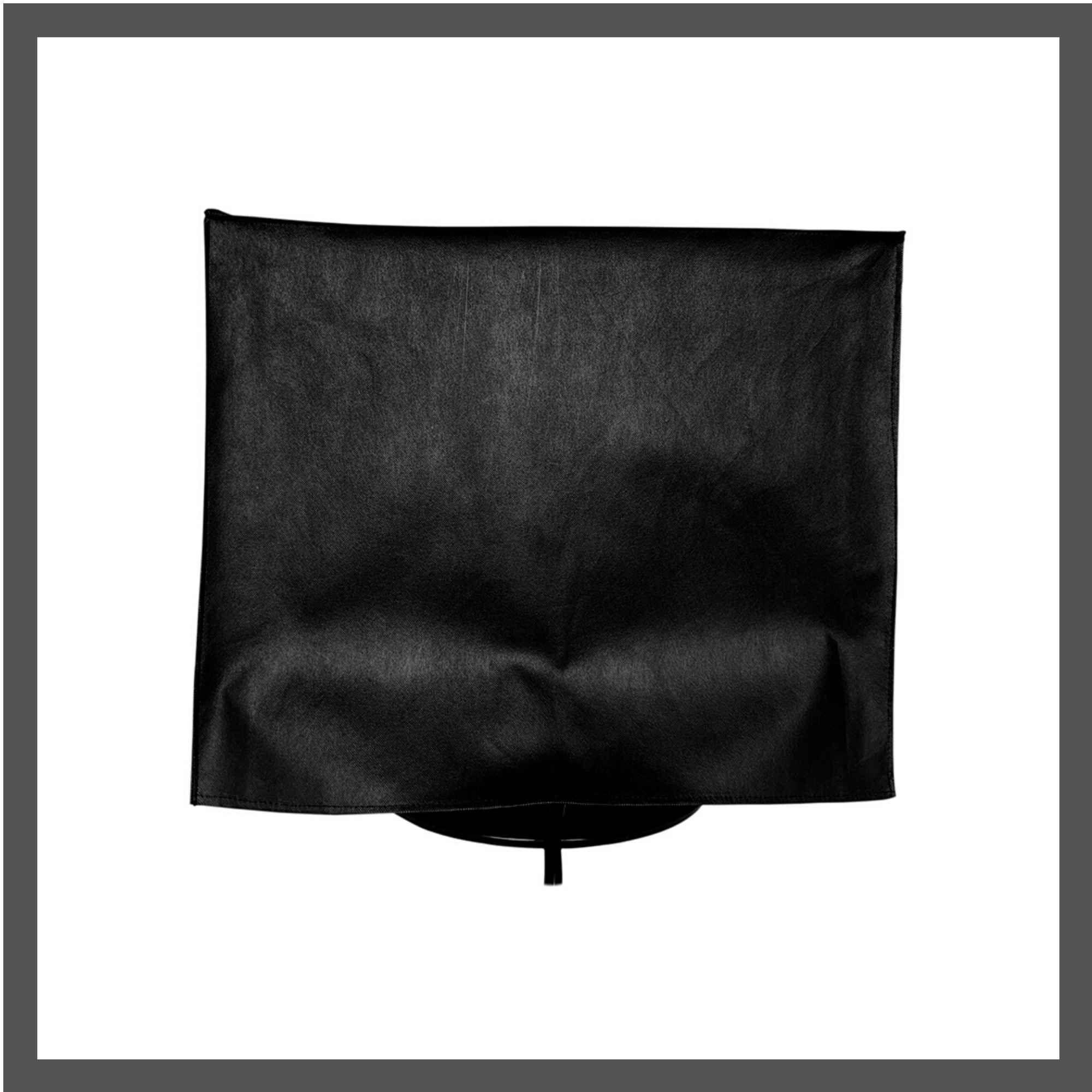 Capa para Monitor Quadrado Dell de 17 polegadas na cor preta  em TNT