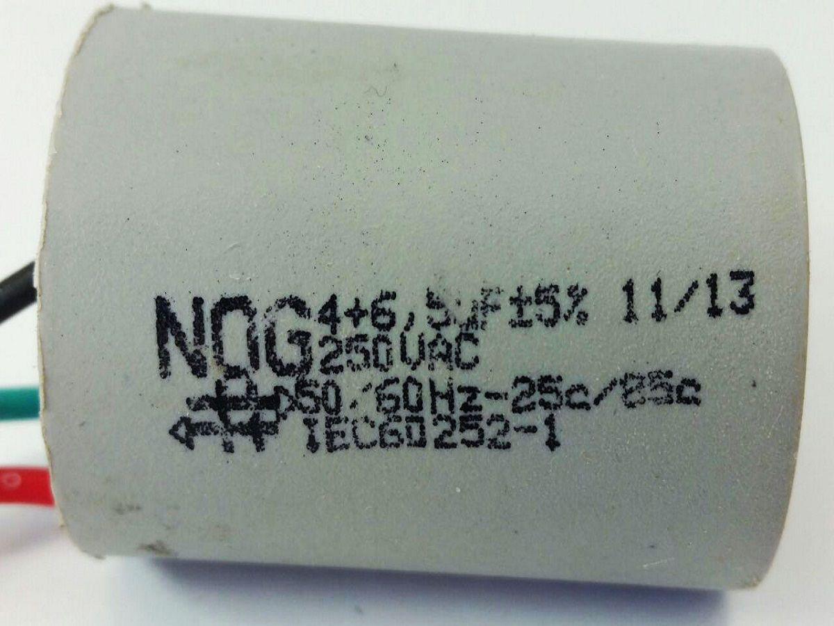Capacitor Para Ventilador 3 Fios 4+6,5uf 250vac 5%