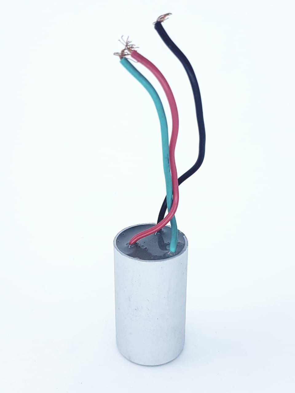 Capacitor para ventilador de teto  3 fios 2,5 + 5 UF 10% 250VAC NOG