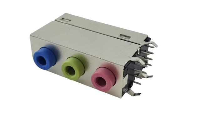 Conector De Áudio Para Placa Mãe Novo