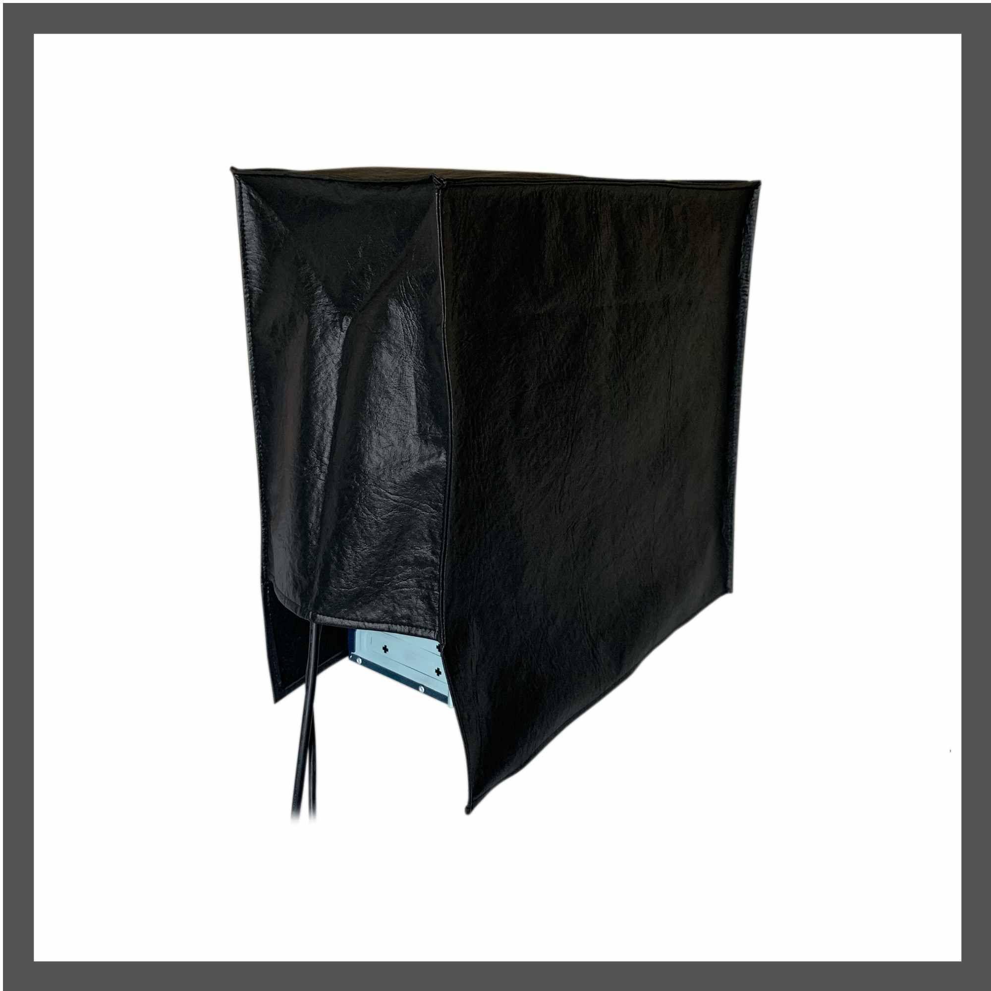 Conjunto de Capas de proteção para Monitor de 27 polegadas, teclado e  gabinete em Corino preto impermeável