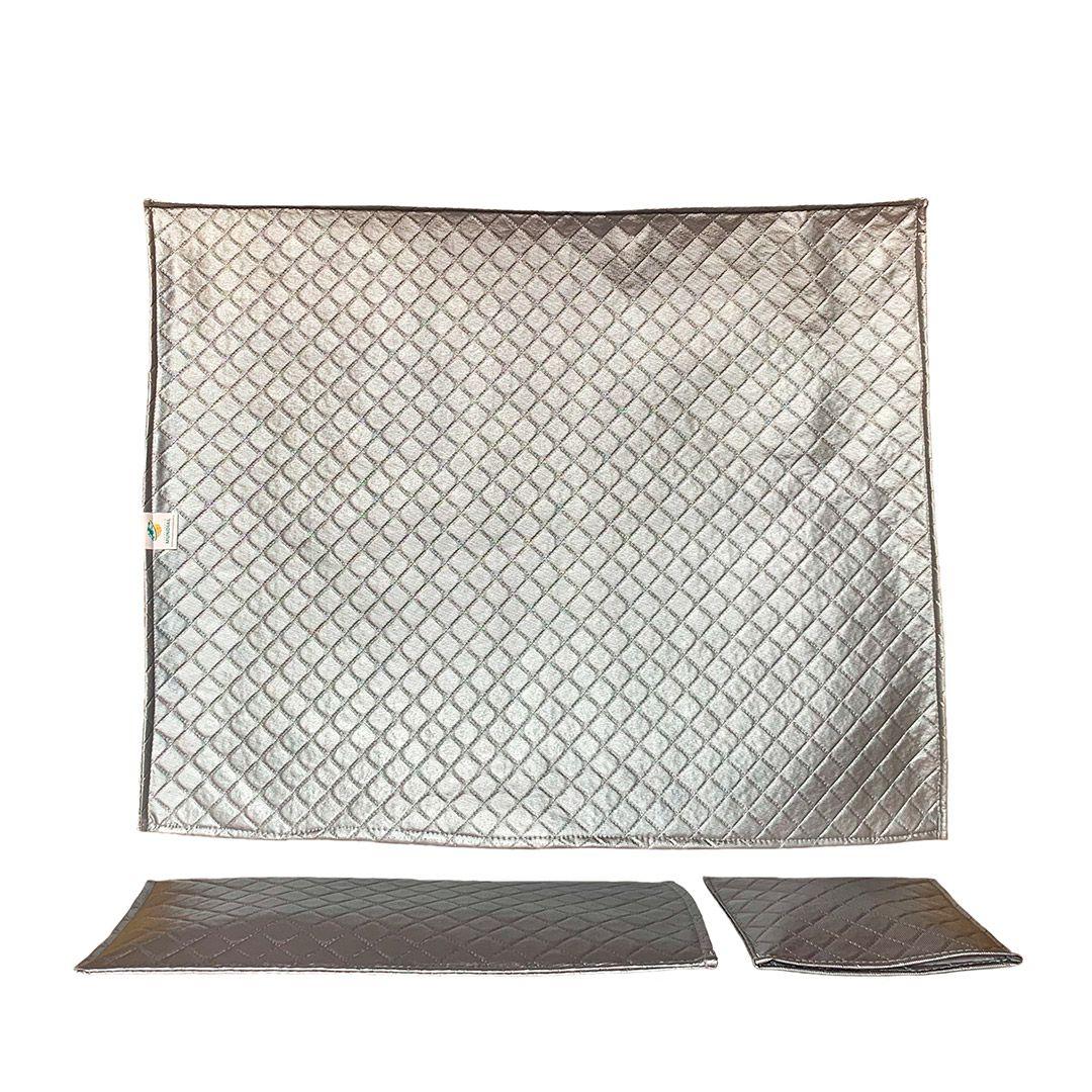 Conjunto de capas para monitor e teclado 22,23 e 24 polegadas na cor Prata Cinza Modelo Luxo