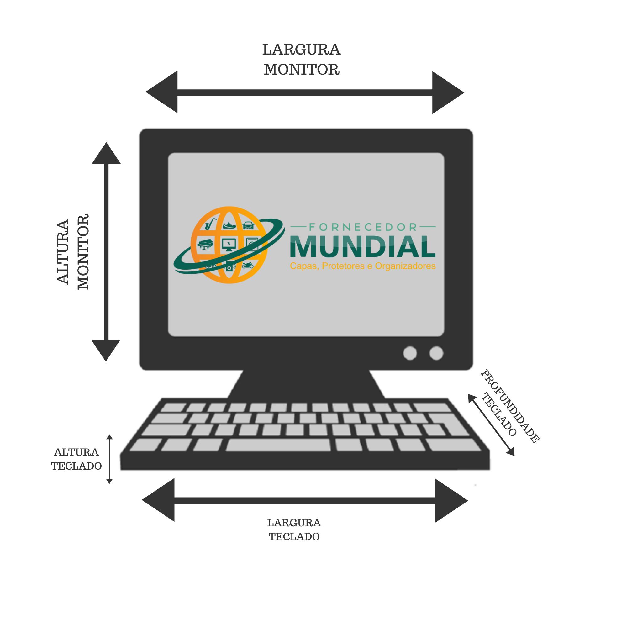 Conjunto de Capas para Monitor e teclado na cor preta  19,20 e 21 Polegadas em TNT