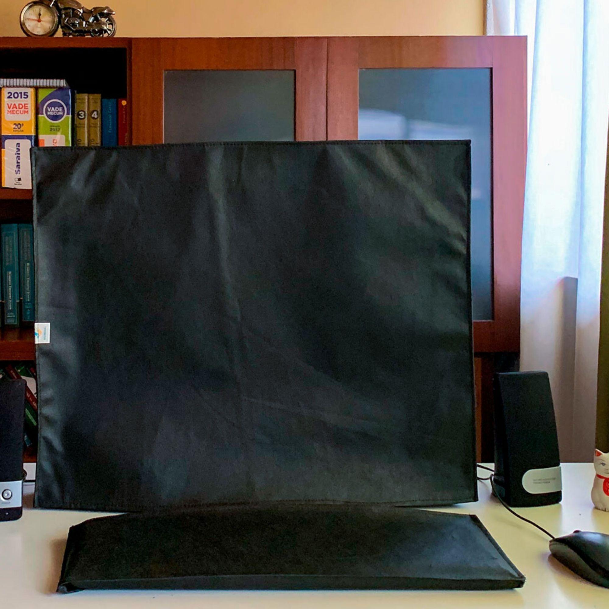Conjunto de Capas para Teclado e Monitor 19 Polegadas Quadrado LG L1942P  na cor preta em TNT