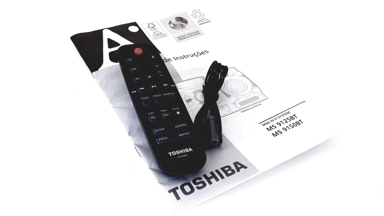 Controle Remoto CR4400 para  Micro System modelo MS9125 e MS9150 da marca Semp Toshiba Original